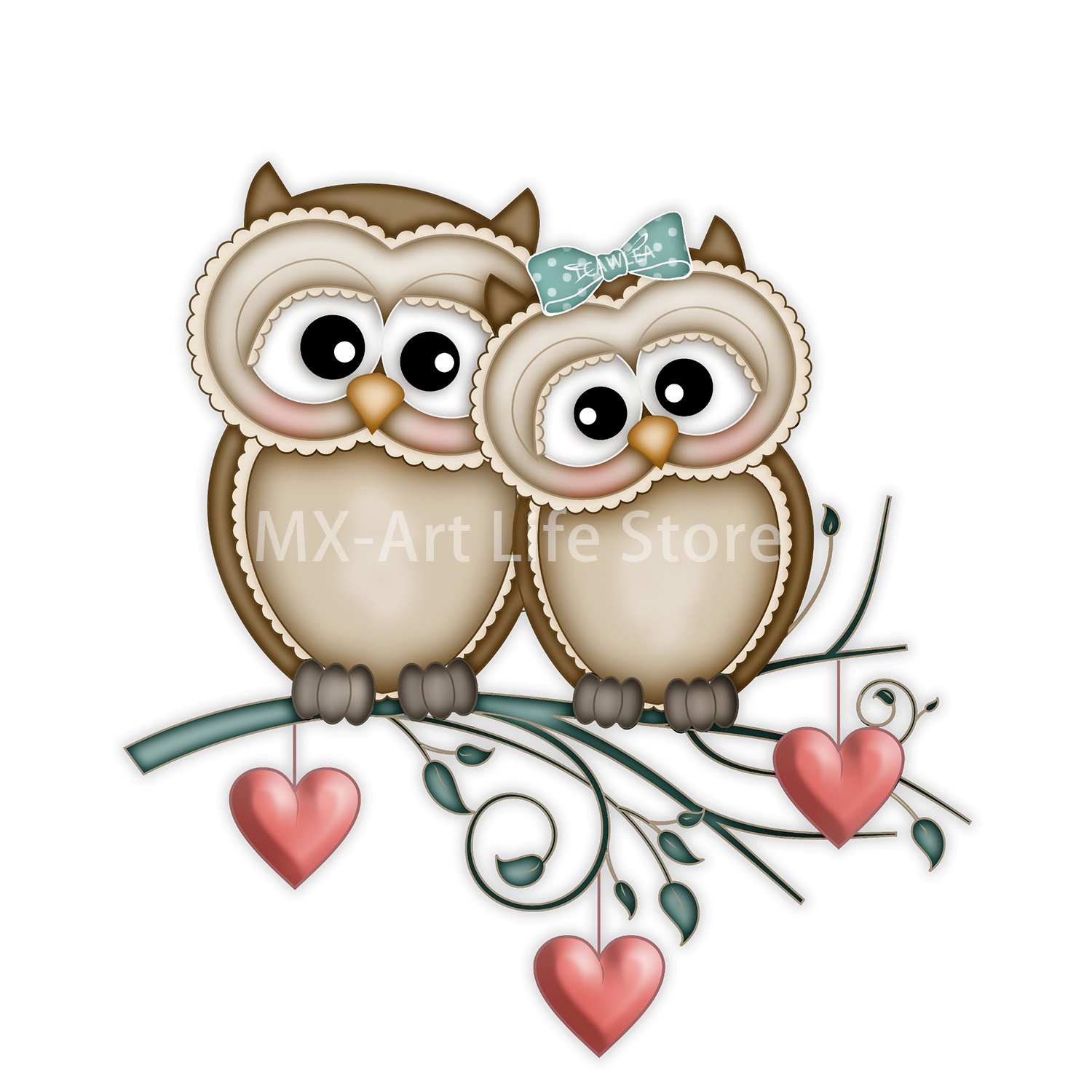 Couple Owl Metal Cutting Dies Lover Animal Boy with Girl Doll Craft Stencil for DIY Scrapbooking Cards Decorative