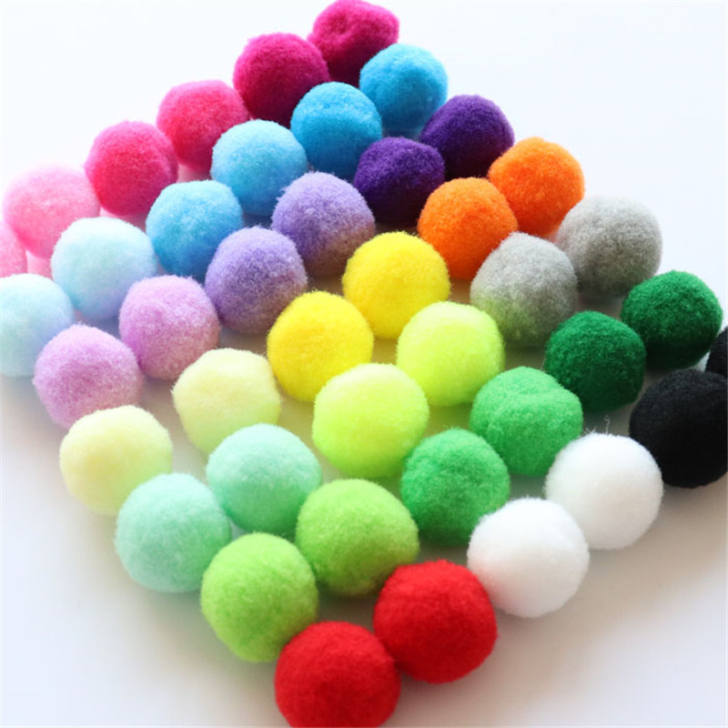 Fluffy Soft Pompom Plush Pom Poms Ball 8mm 10mm 15mm 20mm 25mm 30mm Pompones DIY Handmade Sewing Craft Kids Toy Wedding Decor(China)