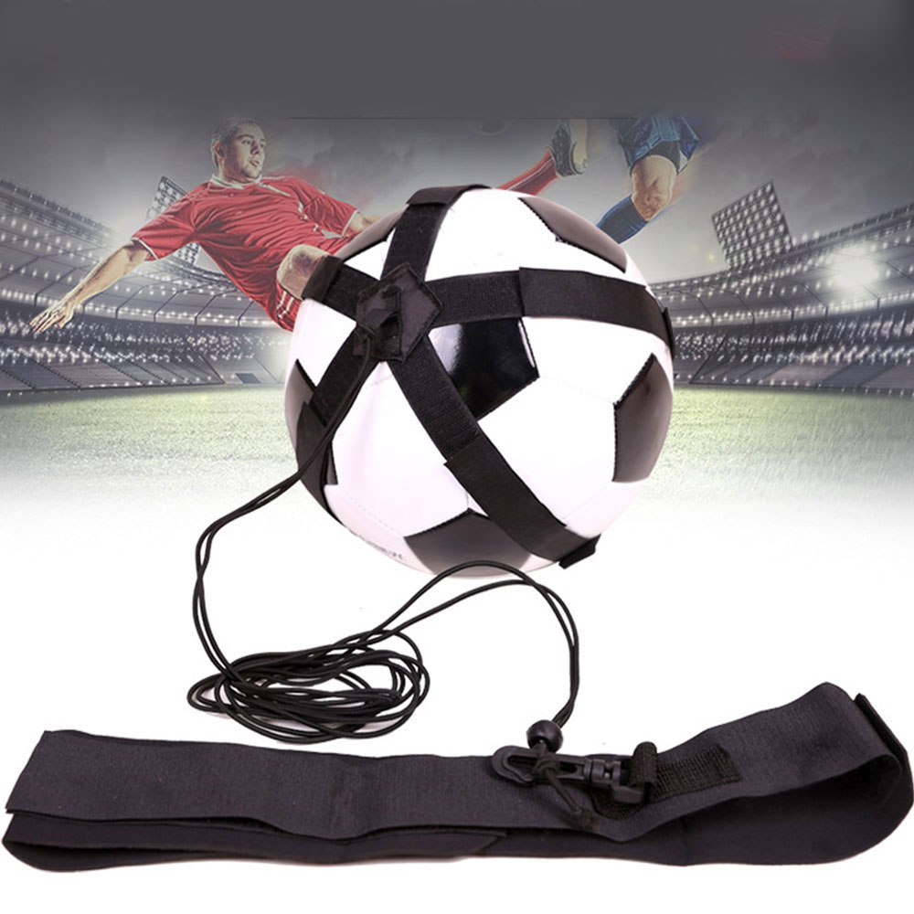 Football Trainer Adjustable Soccer Practice Belt Sports Assistance Kick Ball Training Equipment Fit For 4/5/6/7 Size Soccers