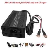 LiFePO4-cargador solar de litio y ácido de plomo, 500W, 36V, 10A, salida de 42V, 43,8 V, 40,15 V, para escúter, motocicleta