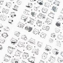 6 листов Новое поступление мультфильм ручные наклейки Kawaii творческие подарки для детей офисные школьные принадлежности