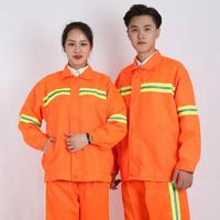 Work Clothing Unisex Reflective strip Long Sleeve Coveralls Protective Cloth for Worker Repairman Machine Auto Repair Welding DY