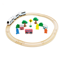 Wooden Track Train Set Toy Railway Magic Brio Wood Puzzles educational Toys track toy educational toys for children electric train track set magnetic educational slot brio railway wooden train track station puzzles car toys for kids children