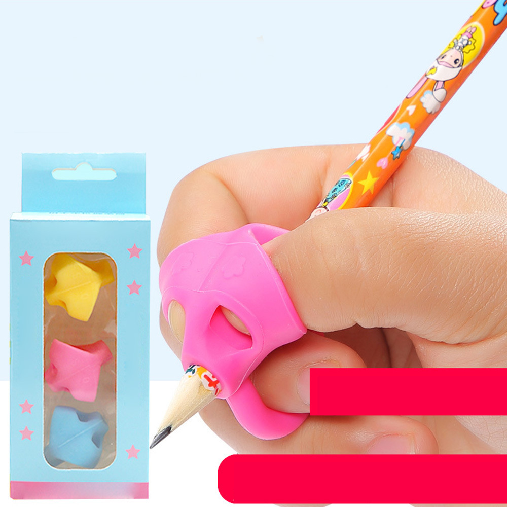 3pcs Pencil Grips Artifact Preschool Children Learning Writing Braces  Beginners Pencil Posture Correction Tool For Kids Gift