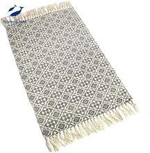 Ворсовый хлопковый коврик в богемном стиле с геометрической
