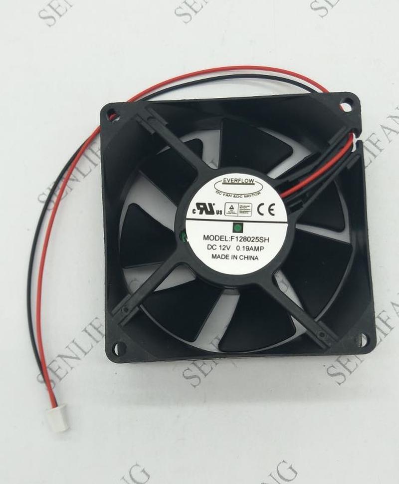 F128025SH Cooling Fan 12V 0.19A 80*80*25mm 2pin