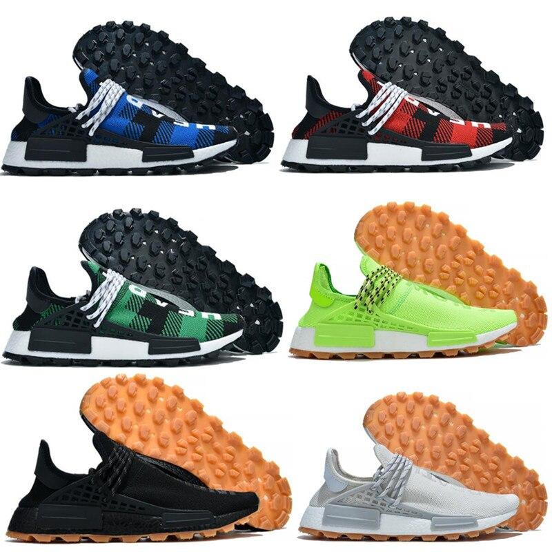 New Brand Signal Human Race Running Shoes Pharrell Williams Inspiration Pack Black Nerd Sneakers Men Sport Shoes Size 40-45