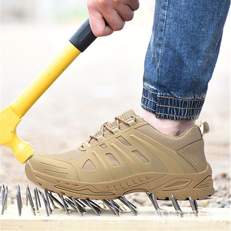 Men Summer Steel Toe Work Shoes Puncture Proof Safety Shoes Male Waterproof Breathable Casual Industrial Boots Outdoor Sneakers image