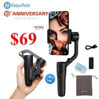 Feiyu Vlog Tasche  vimble 2 3 Achse Faltbare Smartphone Gimbal Stabilisator für iPhone Xs Max Xr X 8 Samsung S9 S8 Action Kamera-in Tragbare Kardanringe aus Verbraucherelektronik bei