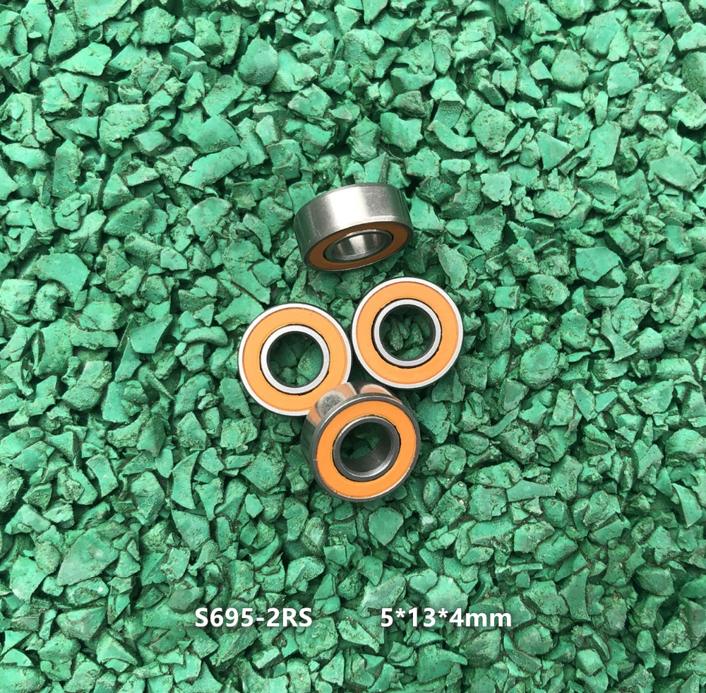 S695-2RS 5x13x4 mm 5 PCS ABEC-7 440c Stainless Steel CERAMIC Ball Bearing