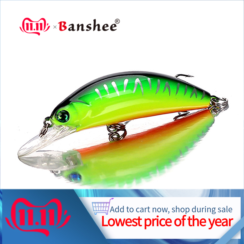 Banshee 54mm 4.7g Pike For Wobblers Fishing Crankbaits Mini Minnow Black Bait Bass Wobbler For Trolling Fishing Lure Trout Baits