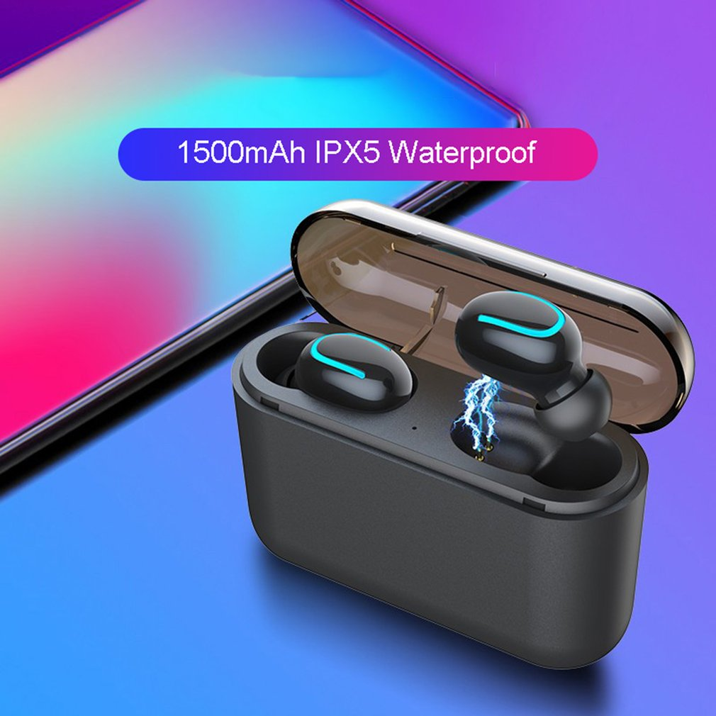 Smart Wireless Headset Q32 3D Stereo Micro Headphones 5.0 Sports Waterproof Automatic Pairing Headphones