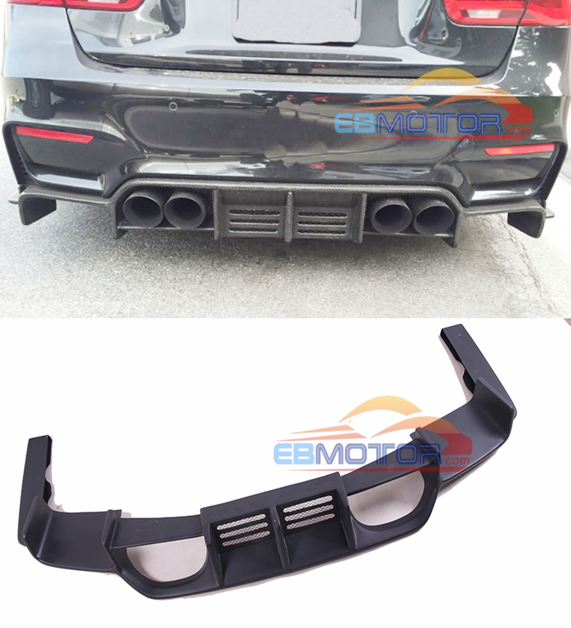 PAINTED Fiber Glass Rear Diffuser For BMW F80 M3 F82 F83 M4 2014UP B409F image