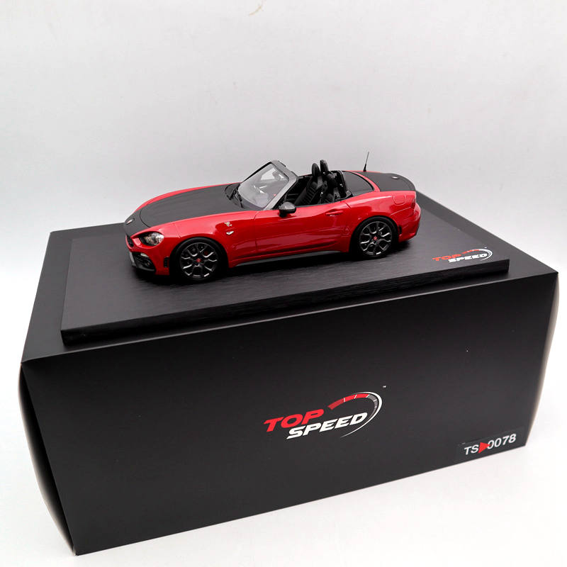 TOP Speed 1:18 For Abarth 124 Spider Costa Brava 1972 Red TS0078 Limited Edition Collection Auto Toys Car