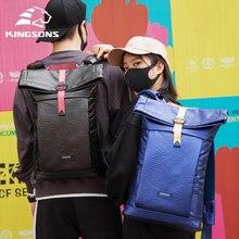 Kingsons novo lazer mochila 15.6 laptop laptop portátil mochilas homens e mulheres saco de escola à prova dwaterproof água sacos viagem curta mochila