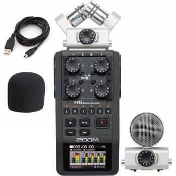 Zoom H6 portable professional handheld digital recorder H4N upgraded section Handy 6-Track for interview X/Y Side Mic - Category 🛒 Consumer Electronics