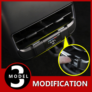 Image 1 - Modification Rear exhaust port Usb charging special protective cover modification accessories for Tesla Model 3