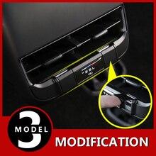 Modyfikacja tylny wydech port Usb ładowanie specjalna ochrona pokrywa akcesoria do modyfikacji dla Tesla Model 3