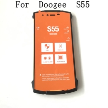 Doogee S55 Gebruikt Lcd scherm + Touch Screen + Frame Voor Doogee S55 MTK6750T 5500 Mah 4 Gb 64 gb Mobiele Telefoon