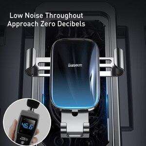 Image 3 - Baseus Metal araba telefon tutucu 360 derece cep telefon tutucu araba hava firar dağı klip standı akıllı telefon için yerçekimi braketi