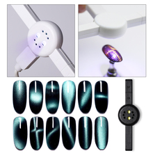 1 шт. 3 Вт Магнитная УФ лампа розовый черный белый USB кабель мини отверждения ногтей художественный Гель-лак для ногтей Achevie эффект кошачьих глаз инструмент для ногтей