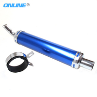 Universal Motorcycle Racing Exhaust Muffler Silencer Pipe for motor 50-125cc motor 28mm Modified parts blue