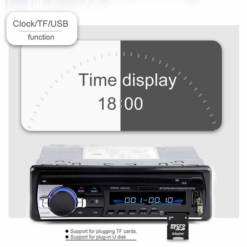 Autoradio 1 Din カーラジオ JSD-520 ステレオ Bluetooth オーディオ 12pin Mp3 レコーダー Sd Aux 入力 Oto Teypleri 自動プレーヤー