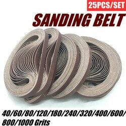 25PCS Sanding Belts 40-1000 Grits Sandpaper Abrasive Bands For Belt Sander Abrasive Tool Wood Soft Metal Polishing