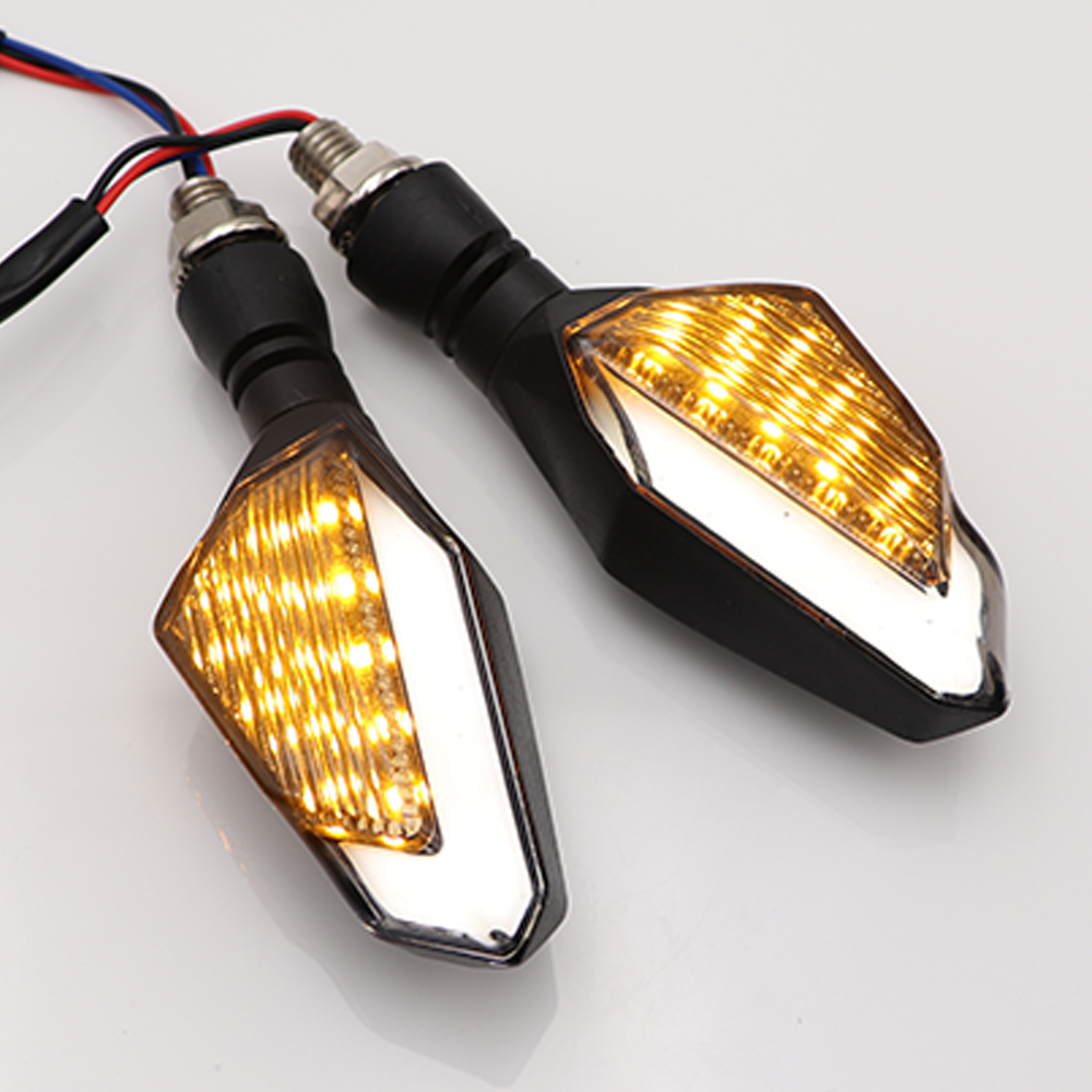 2Pcs/set Moto Accessories Motorbike Blinker Signal Lamp Motorcycle LED Turn Signal Lights DC 12V Front Rear