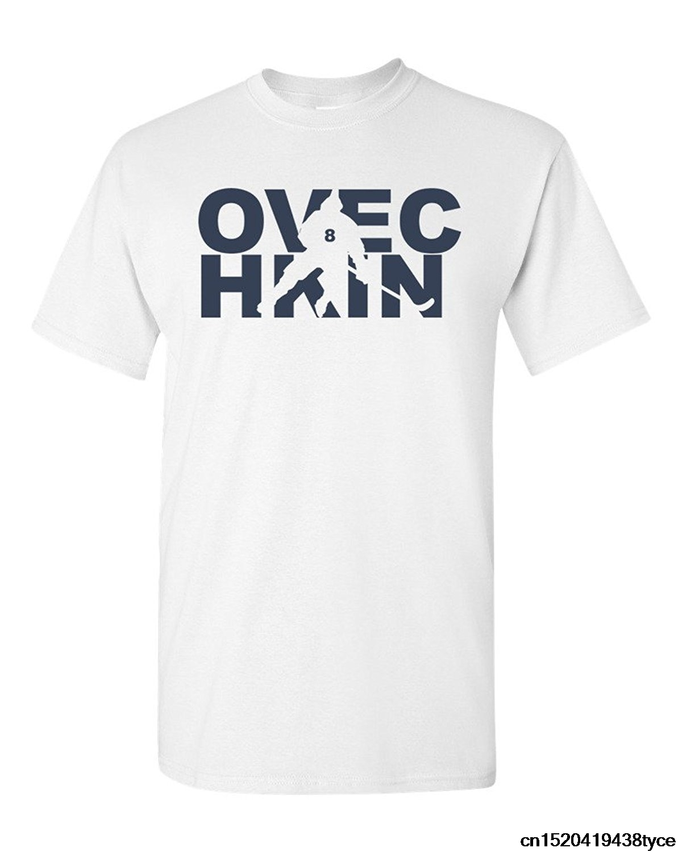 Fashion 100% Cotton O-Neck Short T-Shirt Ovechkin Fan Wear Ice Hockeys Men Design Short Sleeve Course(China)