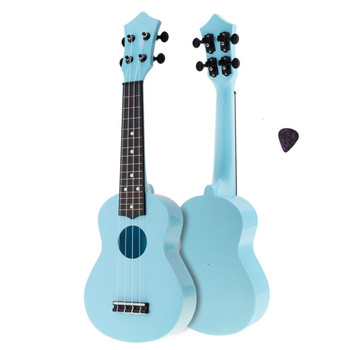 Soprano Ukulele Colorful Acoustic 4 Strings 21 Inch Hawaii Guitar Instrument for Children and Music Beginner hanknn 21 inch ukulele guitar soprano mahogany 4 strings round angle hawaii ukulele guitar ukelele acoustic musical instruments