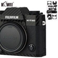 Kiwi Anti Scratch Protetor de Pele Da Tampa Do Corpo Da Câmera Para Fujifilm Fuji X T30 3 XT30 Câmera Anti Slide Filme De Fibra De Carbono 3M Adesivo