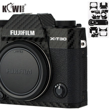 Kiwi anti rayures caméra corps couverture peau protecteur pour Fujifilm X T30 Fuji XT30 caméra Film en Fiber de carbone anti dérapant 3M autocollant