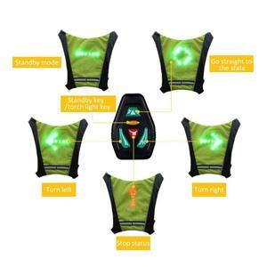 Новинка 2020, светодиодный жилет для езды на велосипеде, 20 л, MTB, сумка для велосипеда, светодиодный защитный жилет с сигналом поворота, светоот...