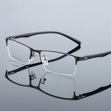 Optical Metal Glasses Frame Men Retro Clear Myopia Prescription Eyewear Square Designer Eyeglasses Unique Hinge