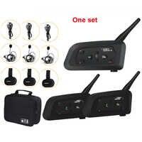 3-Way Football Referee Intercom Headset Vnetphone V4C V6C 1200M Full Duplex Bluetooth MP3 Headphone Wireless Soccer Interphone