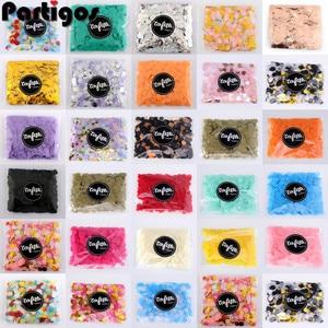 1 см 10 г/пакет, бумажные конфетти разных цветов для свадьбы, дня рождения, вечеринки, украшения, круглая ткань для прозрачных воздушных шаров