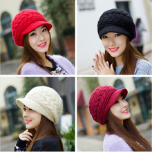 2019 autumn and winter new ladies fashion popular rabbit fur hat explosion models knitted warm earmuffs