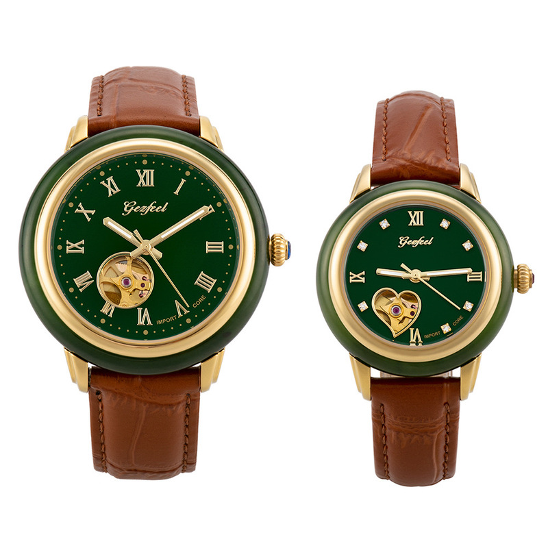 2020 Direct Selling New Customized Mechanical Watch Male Belt Hetian Jade Watches A Undertakes To Hollow Out