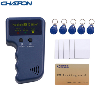 CHAFON Handheld 125Khz EM4100 RFID reader copier writer duplicator T5557/T5577/EM4305 writable keyfobs card free shipping image