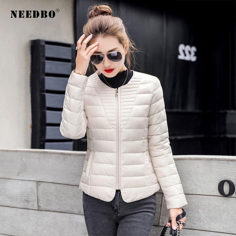 NEEDBO Womens Down Jackets Ultra Light Down Coat Winter Oversize Winter Autumn Warm Puffer Jacket Coat Lady Down Jacket Parka