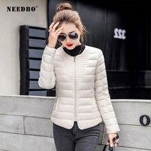 NEEDBO Womens Down Jackets ultra Light Coat Winter Oversize Autumn Warm Puffer jacket Lady Jacket Parka