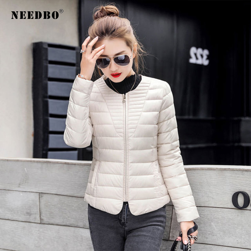 NEEDBO Womens   Down   Jackets ultra Light   Down     Coat   Winter Oversize Winter Autumn Warm Puffer jacket   Coat   Lady   Down   Jacket Parka