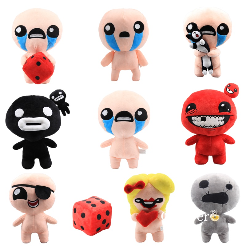 Plush Doll Toys The Binding Of Isaac Afterbirth Rebirth Game Plush Isaac Keeper,Super Meat Boy,Magdalene Doll Toys Gift 28-30 Cm