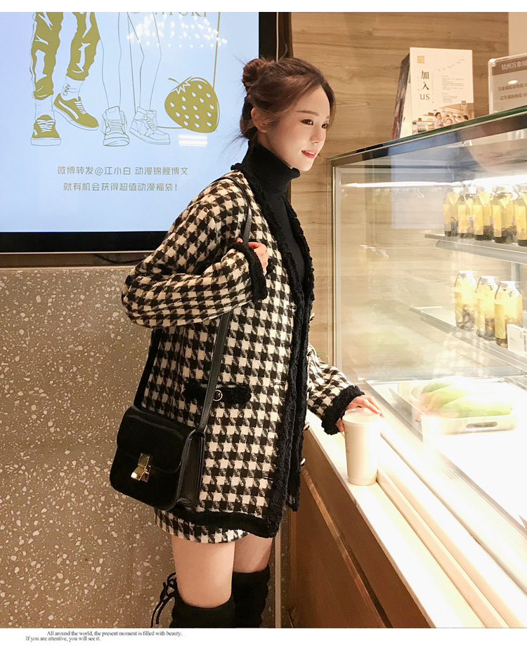 H0230e44af8c0492e98983a41488f51d5H - Houndstooth Vintage Two Piece Sets Outfits Women Autumn Cardigan Tops And Mini Skirt Suits Elegant Ladies Fashion 2 Piece Sets