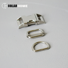 1 set metal quick-release adjustment buckle 25mm D-rings for DIY dog collar webbing sewing paracord handmade accessories