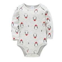 Боди с рисунком пингвина для новорожденных мальчиков; Осенний