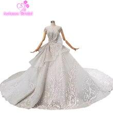 Neue Prom Kleid Lange 2019 Sexy Grau Scalloped Neck Spitze Glitters Backless Kristalle Pailletten Perlen Prom Kleider Frau Party Kleider