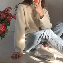Женская Джерси 2020 корейский Повседневный свитер с воротником