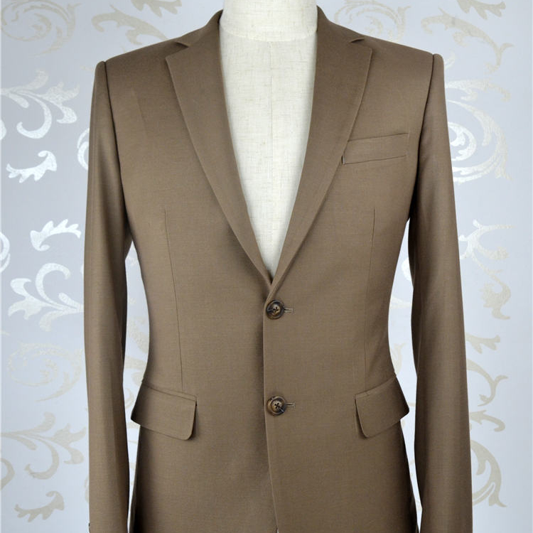 Suits jacket pants tailor made men's wedding dress solid color single breasted tailored suit  men wool suits  customize